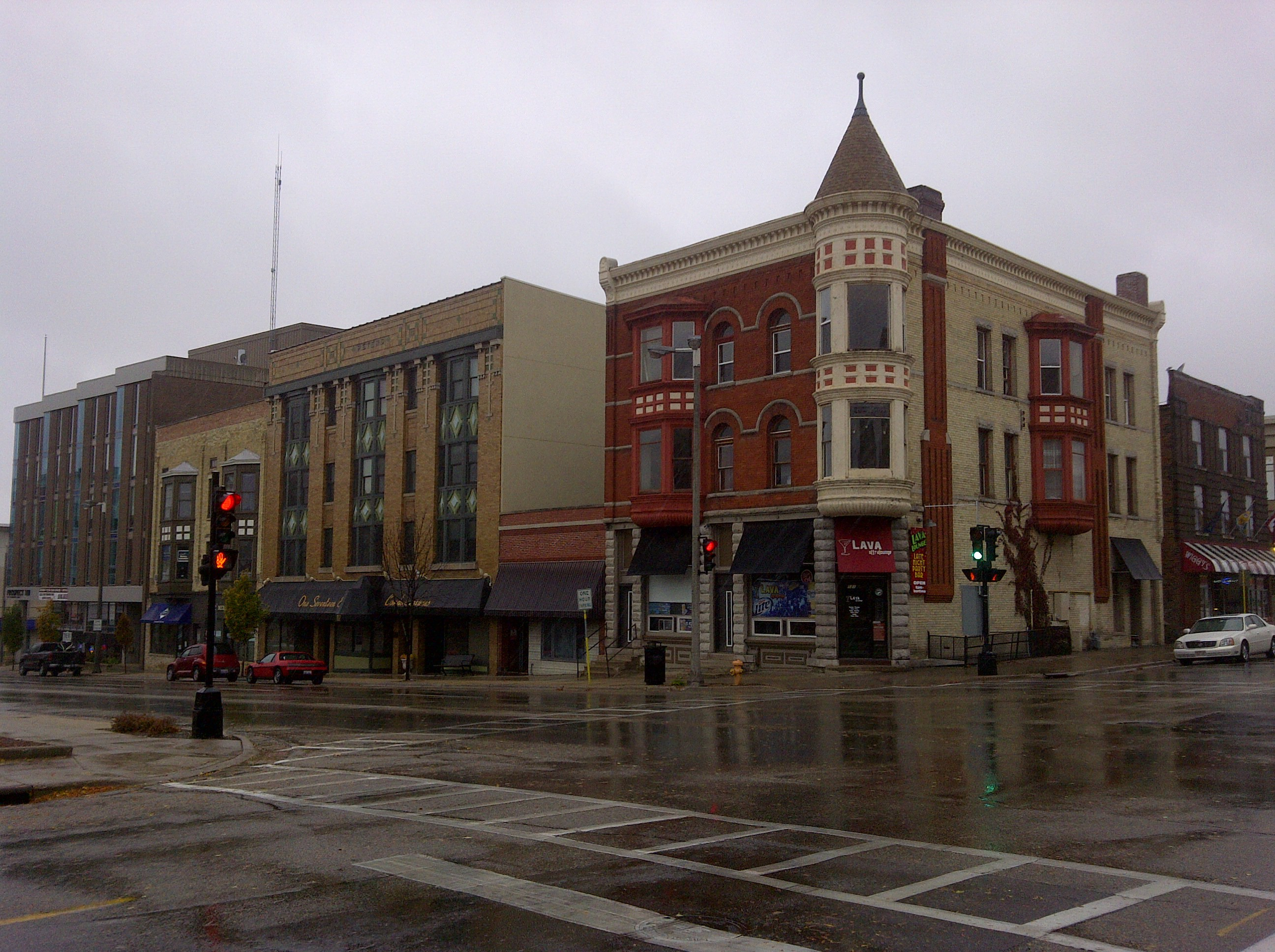 Beautiful restored facades in downtown Janesville. Photo by artistmac